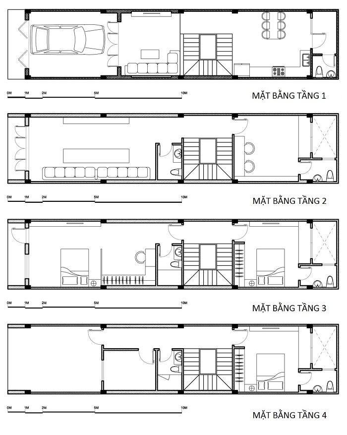 nhà ống 4 tầng 4x15m