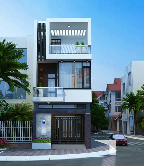 Những mẫu nhà phố đẹp 2 tầng cực sang trọng