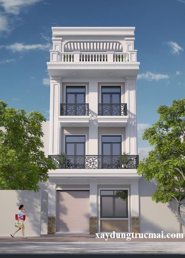 Những mẫu nhà phố đẹp 2 tầng đơn giản mà không kém phần sang trọng