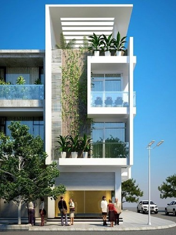 Những mẫu nhà phố đẹp 2 tầng tạo điểm nhấn và sự chú ý tô điểm cho ngôi nhà