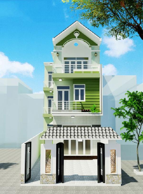 Những mẫu nhà phố đẹp 2 tầng thiết kế thêm không gian xanh