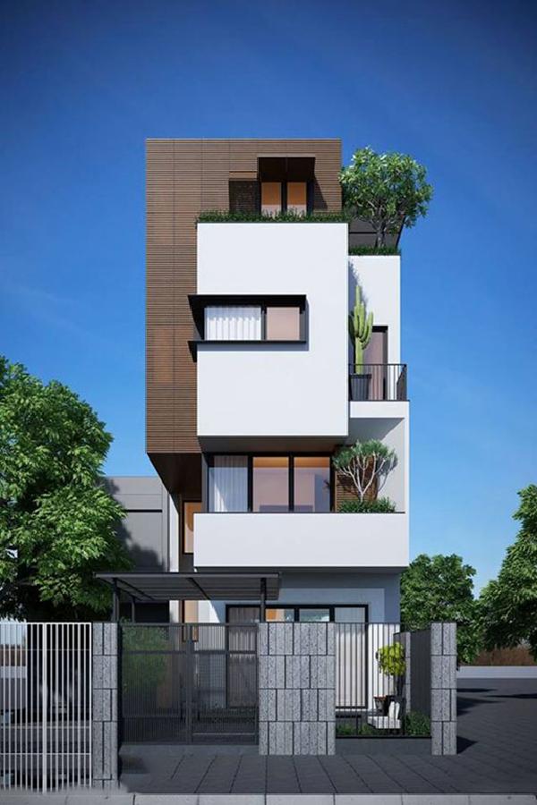 Những mẫu nhà phố đẹp 2 tầng đẹp và lạ mắt