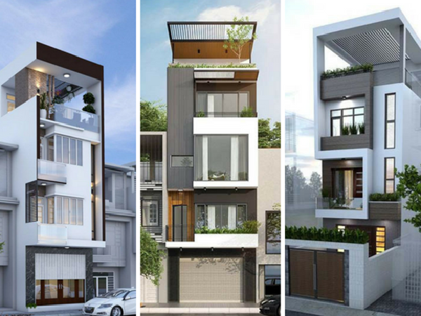 Mẫu nhà phố đẹp 3 tầng đẹp tiết kiệm chi phí
