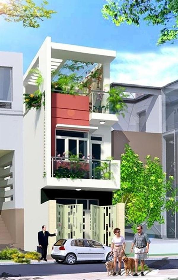 Ngôi nhà được thiết kế theo dạng ống, giúp tiết kiệm diện tích xây dựng