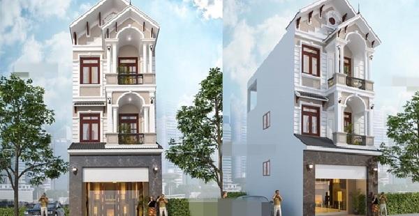 Mẫu nhà phố này được thiết kế và xây dựng theo phong cách tân cố điển, vừa hiện đại vừa cổ kính