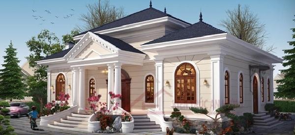 Mẫu biệt thự được thiết kế theo phong cách cổ điển