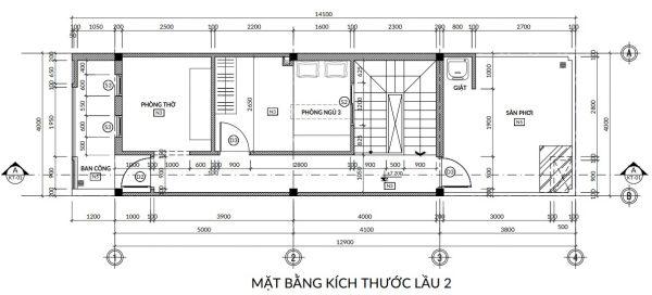 Chi phí xây nhà 3 tầng 60m2 phụ thuộc vào diện tích